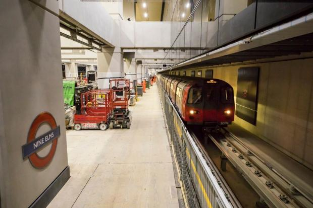 Enfield Independent: Test trains passed through the new stations at Nine Elms and Battersea Power Station. Credit: TfL
