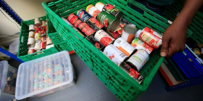 Many families in London are struggling to feed themselves