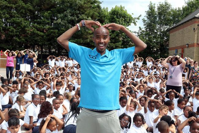 Sir Mo Farah at St Edmund's Primary School