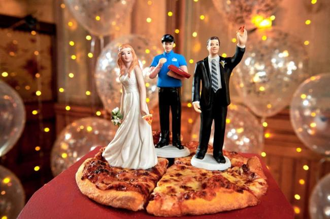 Do you know anyone getting married who would love eat Domino's pizza on their big day?