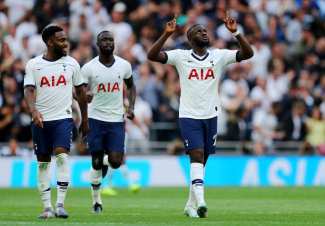 Tanguy Ndombele celebrates his goal. Picture: Action Images