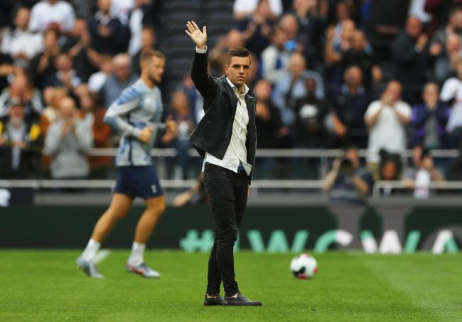 Giovani Lo Celso is introduced to the Spurs fans after signing. Picture: Action Images