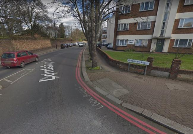 The incident happened in Lordship Lane (Google street view)