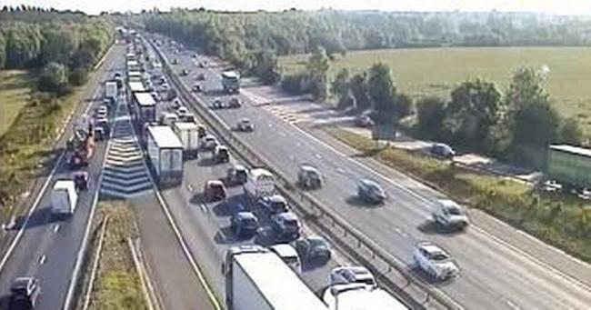 Accident on M11 and stalled car on M25 causes severe delays