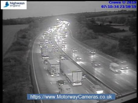 Slow traffic on the M25 anticlockwise at J24 this morning