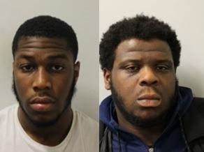 Samuel Gbo and Kieyenlamar Parry-Mclune have been jailed after a gunpoint robbery (Picture: Met Police)