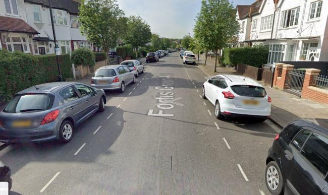The incident happened in Fortis Green Avenue (google street view)