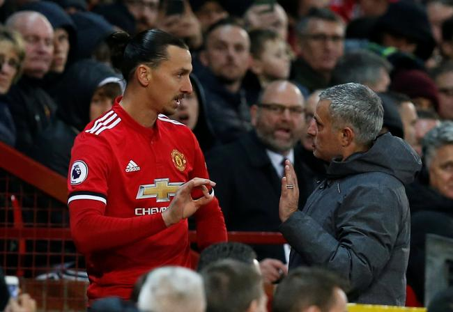 Zlatan Ibrahimovic and Jose Mounrinho during their time together at Old Trafford. Picture: Action Images