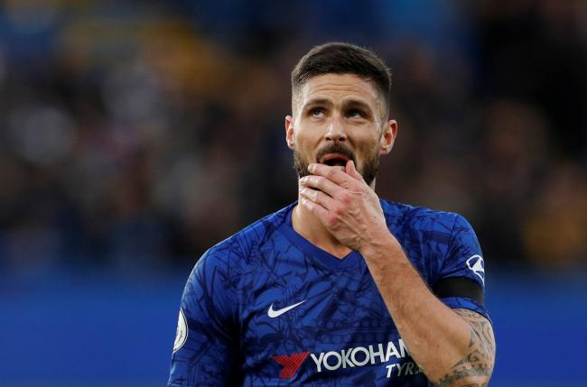 Olivier Giroud is remaining at Chelsea. Picture: Action Images