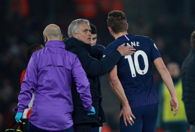 Jose Mourinho expects Harry Kane to be available before the end of the season. Picture: Action Images