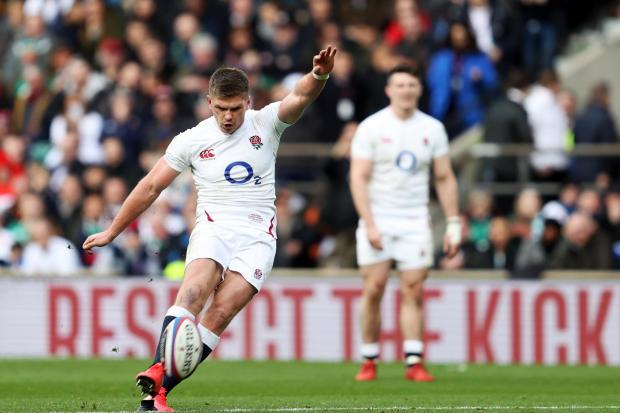 Owen Farrell cut a composed figure