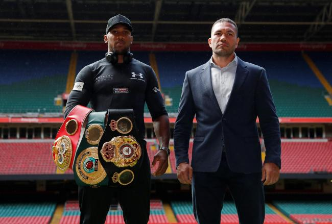 Anthony Joshua and Kubrat Pulev may have to wait a little longer to meet in the ring. Picture: Action Images