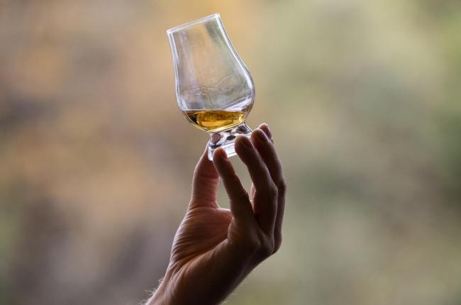 A person with a dram
