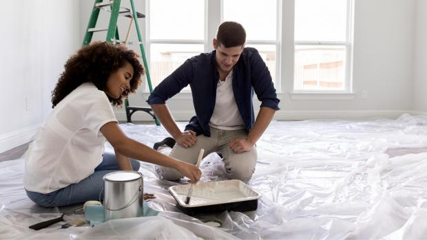 Enfield Independent: Prepping your workspace with a drop cloth or plastic covering is a key part of the process. Credit: Getty Images / SDI Productions