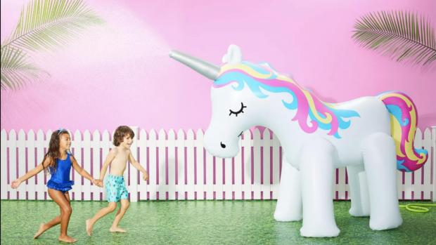 Enfield Independent: This unicorn sprinkler looms above kids, but it's a good size for adults, too. Credit: Sun Squad