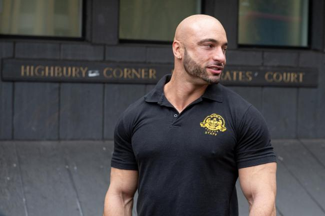 Andreas Michli refused to stop operating his body-building gym (photo SWNS)