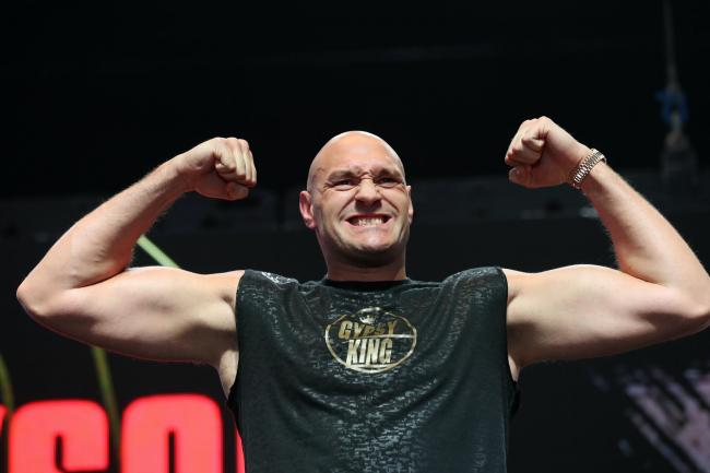 Tyson Fury called his father John an inspiration on Sunday