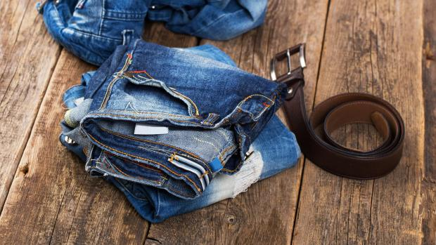 Enfield Independent: A good pair of jeans doesn't need to be washed very often, but if they start to smell or feel loose and slouchy, it might be time to clean them. Credit: Getty Images / kozyrskyi