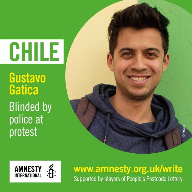 Enfield Independent: Gustavo Gatica was blinded by police at a protest in Chile