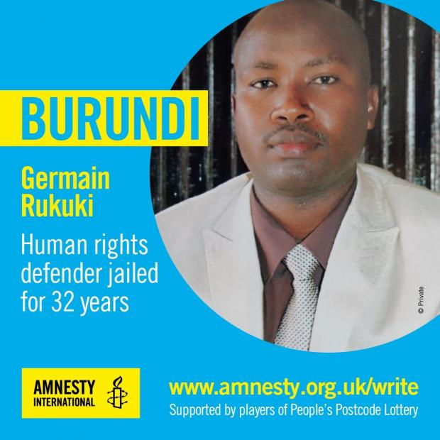 Enfield Independent: Germain Rukuki was jailed for 32 years for defending human rights in Burundi