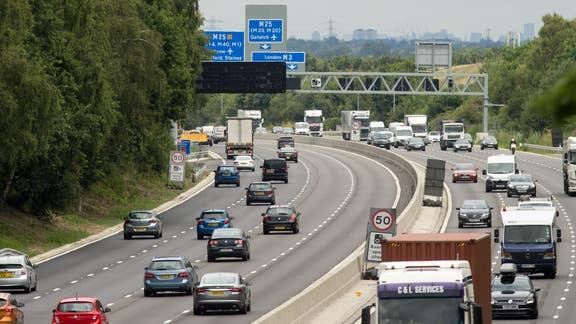 Drivers asked for their views on smart motorways in Highway Code shake-up. (PA)