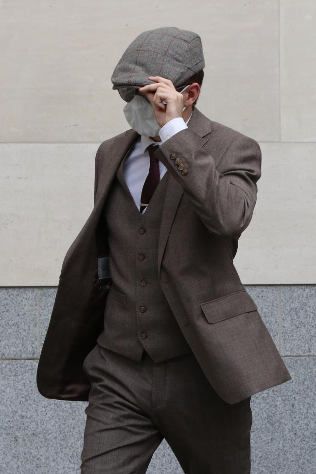 Benjamin Hannam leaving Westminster Magistrates' Court last year (photo PA)