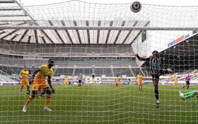 Joe Willock scores a late equaliser for Newcastle against Tottenham Picture: PA