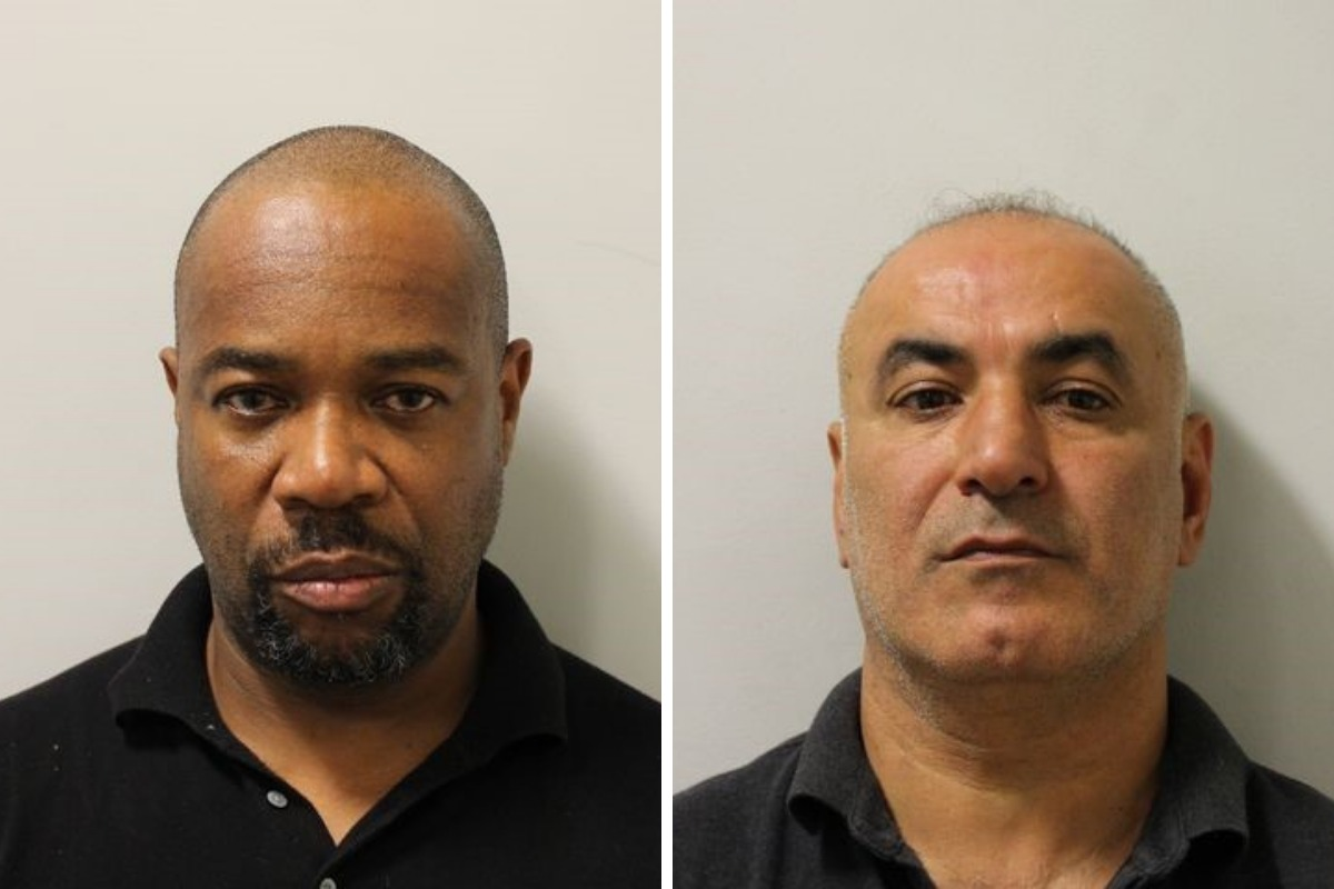 Paul Hinds, left, and Mehmet Yucetas, both of Enfield. Credit: Met Police