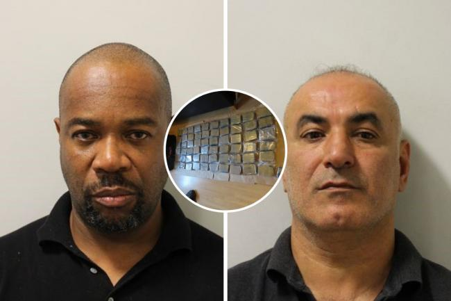 Two men from Enfield have been jailed after police seized around £3 million worth of heroin in 2019. Credit: Met Police