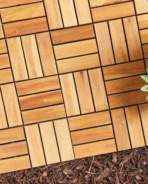 Enfield Independent: Two Direction Wooden Decking Tiles. (Aldi)