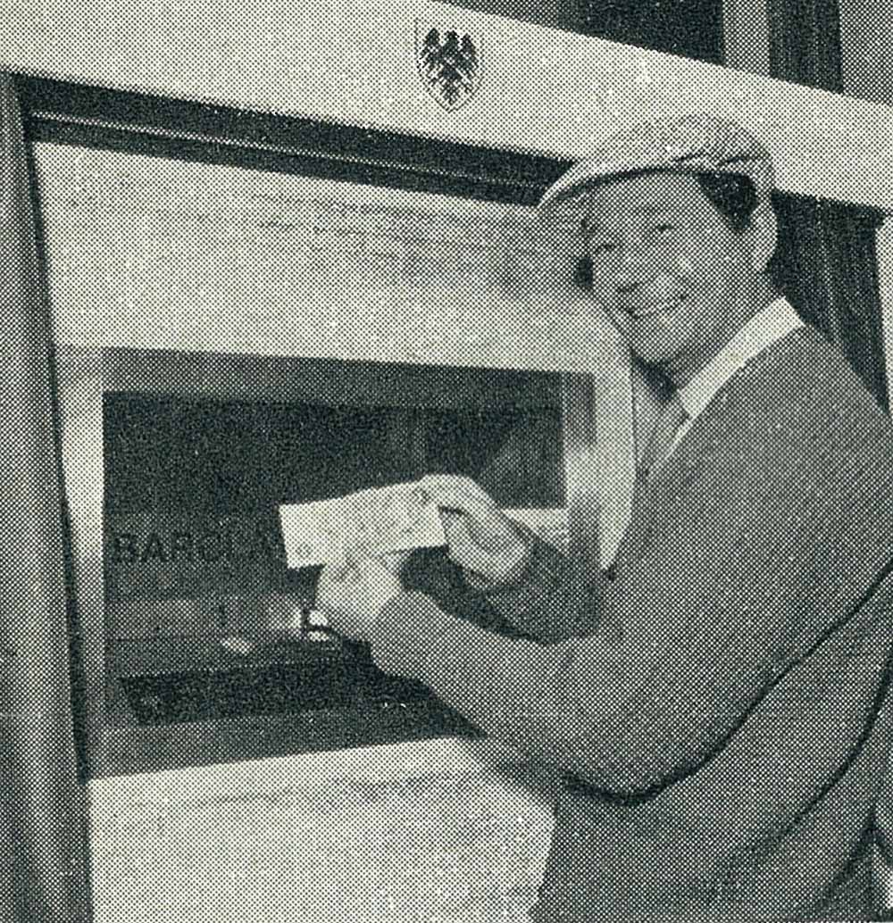 Reg Varney opened the world's first cash machine in Enfield