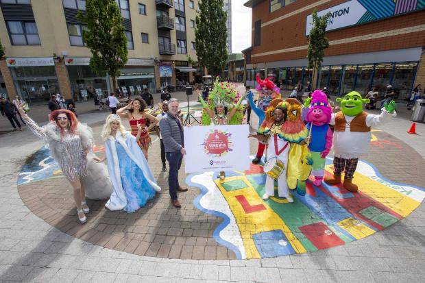 Enfield Independent: Cllr Ian Barnes joins performers at the launch. Credit: Enfield Council