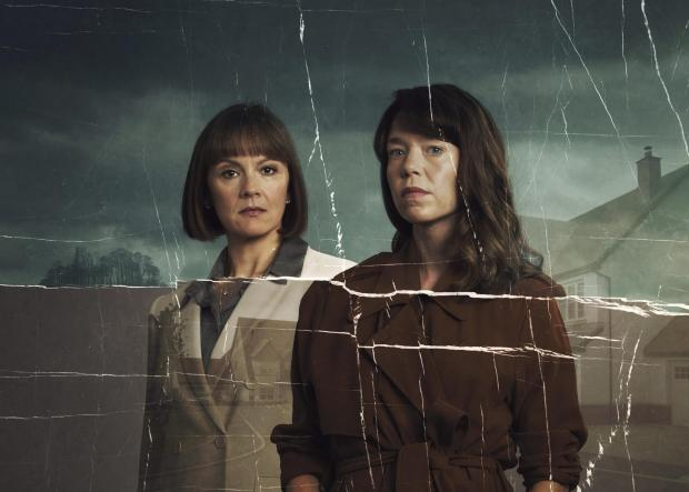 Enfield Independent: ANNA MAXWELL MARTIN as Theresa and RACHAEL STIRLING as Helen in Hollington Drive. Credit: ITV