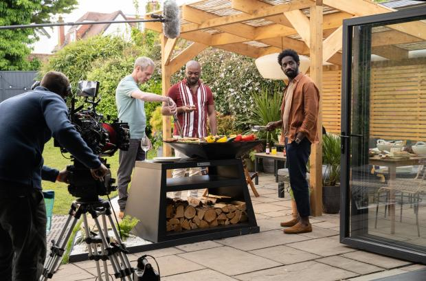 Enfield Independent: Behind the scenes of episode one of Hollington Drive. Credit: ITV
