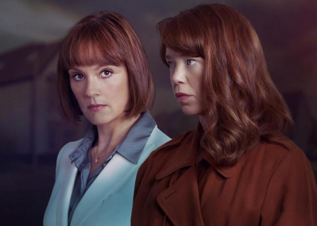 Enfield Independent: ANNA MAXWELL MARTIN as Theresa and RACHAEL STIRLING as Helen. Credit: ITV