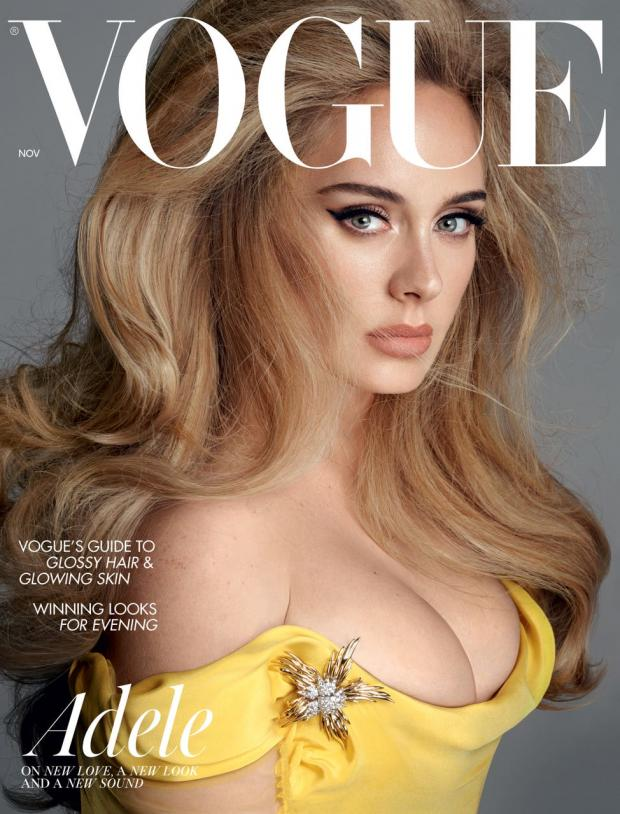 Enfield Independent: Adele on the cover of British Vogue (British Vogue: Steven Meisel).