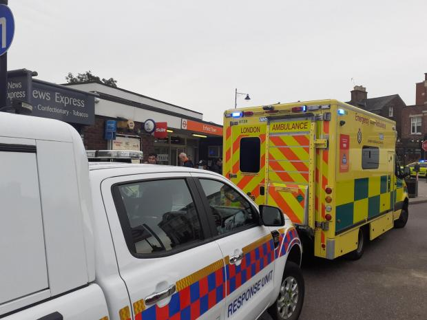 Enfield Independent: Ambulance outside Enfield Town station. Credit: London Ambulance Service