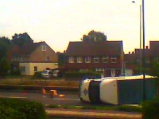Scene of the accident in Great Cambridge Road