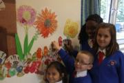 Pupils give Chase Farm ward a mural makeover
