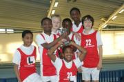 Champions: Year 7 pupils from Enfield Grammar School claim gold in an inter-school sports tournament