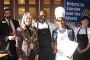 Jagjeet Bharth, of Chace Community School, in Enfield, collecting his prize on Saturday