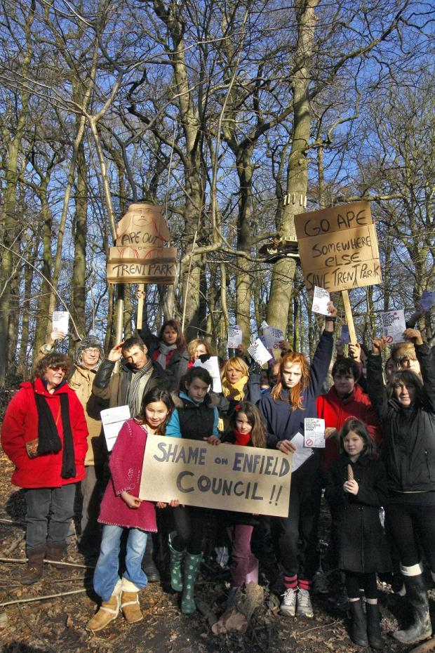 Campaigners have held protests outside the site since it was approved in December.