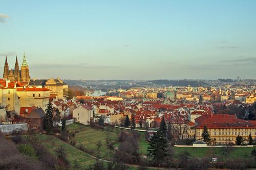 View of St Vitus Cathedral, the Vltava River and downtown Prague. Photo: © Nick Elvin