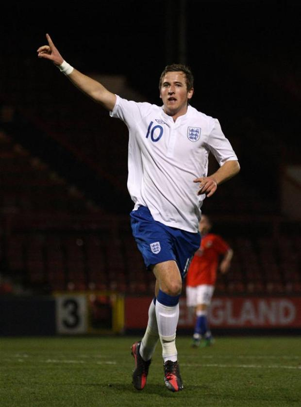 Harry Kane was a second half substitute for England Under-19s against Montenegro. Picture: Action Images