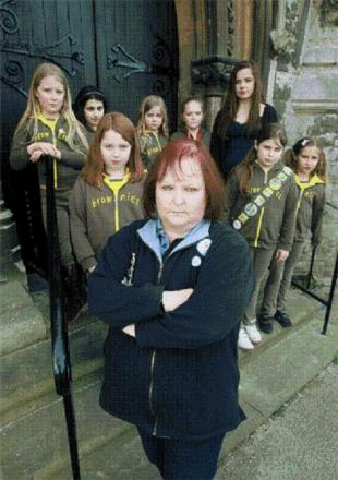Kathy Brown and the brownie group want the minibus returned.