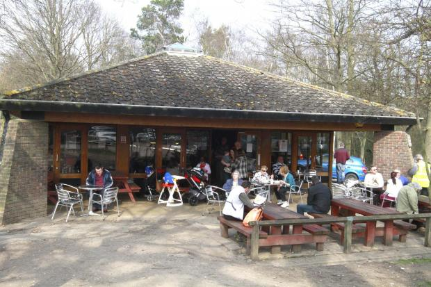 The Trent Park café before it was taken over by Go Ape