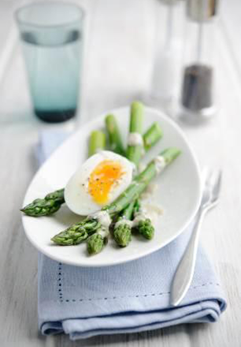 Valentine Warner's British Asparagus with Soft Egg and Anchovy Dressing