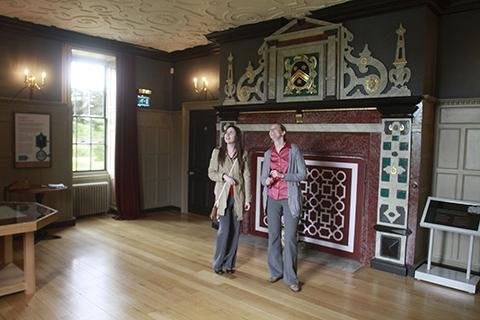 The mansion has been restored to its original 17th Century designs.