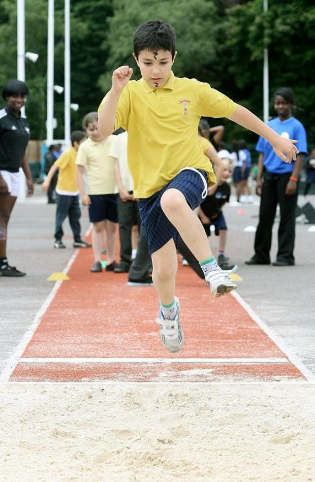 Pupils competed in Olympic-style competitions on Friday