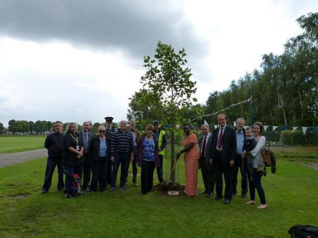 The new tree planted in Broomfield Park